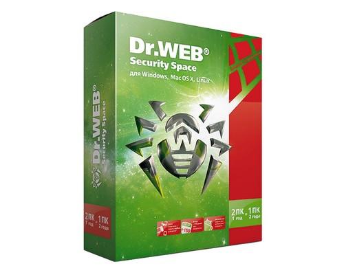 Антивирус Dr.Web Security Space Pro 2 ПК / 1 год - (260772К)