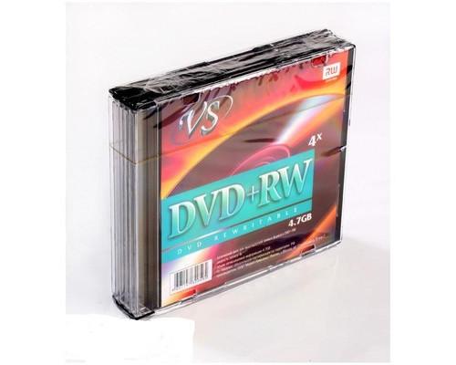 Диск DVD+RW VS 4.7 GB 4x 5 штук в упаковке - (166408К)