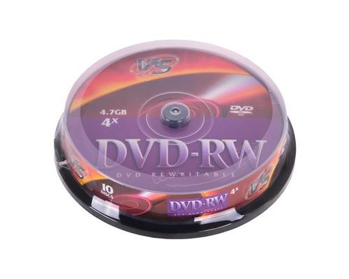 Диск DVD-RW VS 4.7 GB 4x 10 штук в упаковке - (166406К)