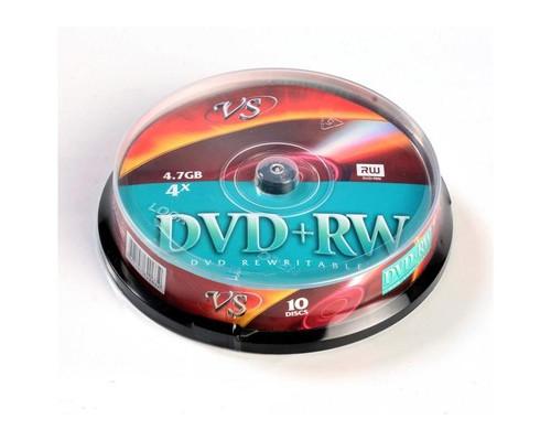 Диск DVD+RW VS 4.7 GB 4x 10 штук в упаковке - (166409К)
