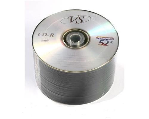 Диск CD-R VS 700 Mb 52x 50 штук в термопленке - (166391К)