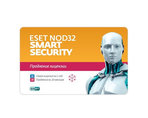 Антивирус ESET NOD32 Smart Security на 3 ПК карта - (626983К)