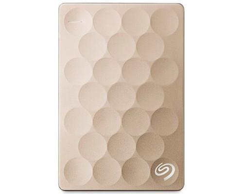 Внешний жесткий диск Seagate Ultra Slim 1 Tb STEH1000201 usb 3.0 золотистый - (631565К)