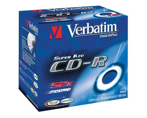 Диск CD-R Verbatim 0.7 GB 52x 10 штук в упаковке - (84116К)
