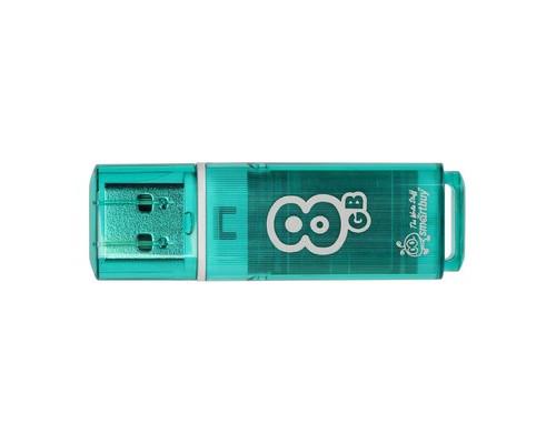 Флеш-память SmartBuy Glossy series 8 Gb USB 2.0 зеленая - (445921К)