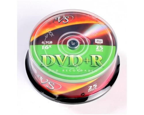 Диск DVD+R VS 4.7 GB 16x 25 штук в упаковке - (166402К)