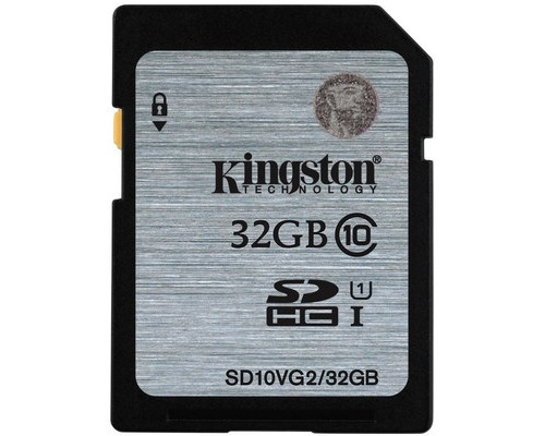 Карта памяти Kingston SDHC 32 Gb Class 10 SD10VG2/32 - (510329К)
