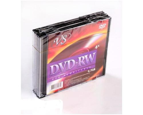 Диск DVD-RW VS 4.7 GB 4x 5 штук в упаковке - (166405К)