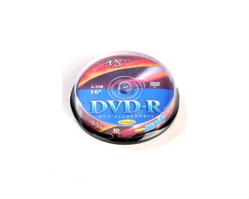 Диск DVD-R VS Printable 4.7 Gb 16x 10 штук в упаковке - (166396К)