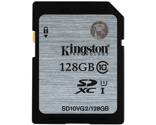 Карта памяти Kingston SDHC 128 Gb Class 10 SD10VG2/128 - (510330К)