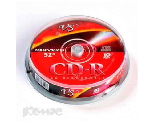 Диск CD-R VS 0.7 GB 52x 10 штук в упаковке - (166388К)