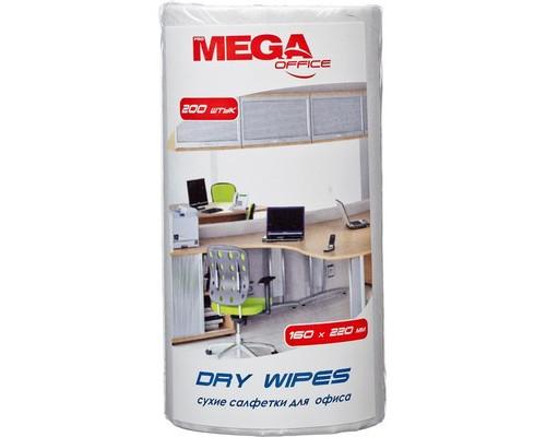 Салфетки ProMega Оffice Dry Wipes для офиса сухие 160х220 мм 200 штук в мягкой упаковке - (330292К)