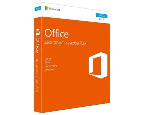 Microsoft Office 2016 для дома и учебы коробочная версия - (512155К)