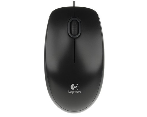 Мышь компьютерная Logitech B100 Optical Mouse черная - (351951К)