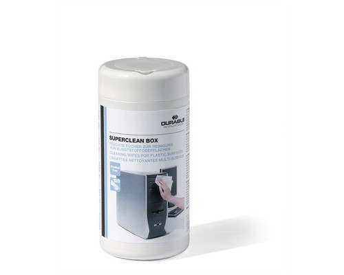 Салфетки Durable Superclean Box в тубе для пластика 100 штук вискоза - (132570К)