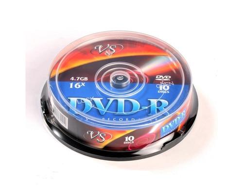 Диск DVD-R VS 4.7 GB 16x 10 штук в упаковке - (84225К)
