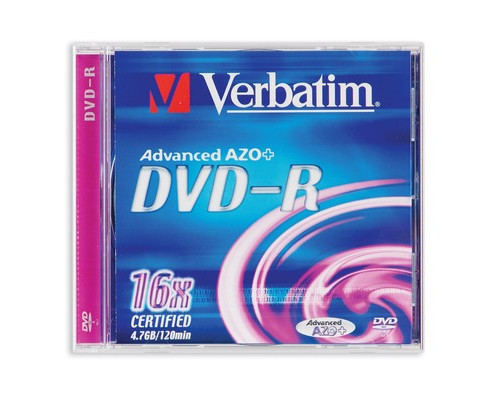 Диск DVD-R Verbatim 4.7 Gb 16x - (64730К)