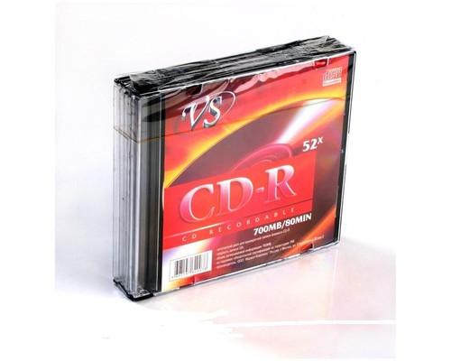 Диск CD-R VS 0.7 GB 52x 5 штук в упаковке - (166387К)