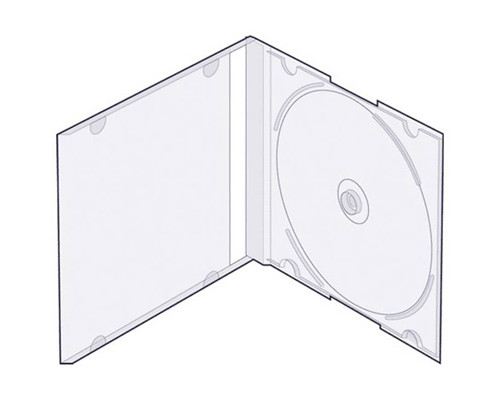Бокс для CD/DVD дисков VS CD-box Slim/5 прозрачный - (250717К)