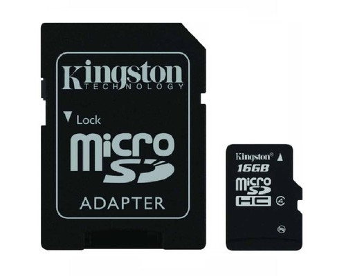 Карта памяти Kingston microSDHC 16 Gb Class 4 SDC4/16GB - (250937К)