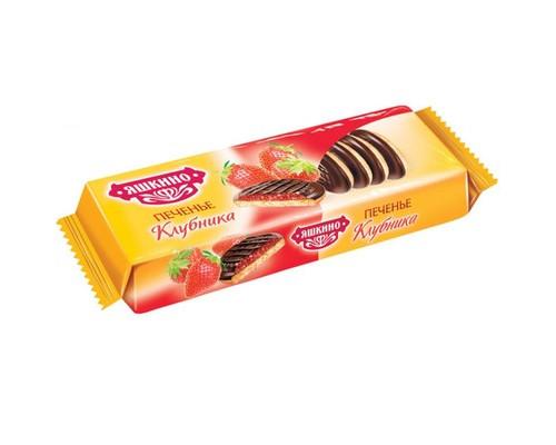 Печенье сдобное Яшкино клубника 137 г - (450216К)