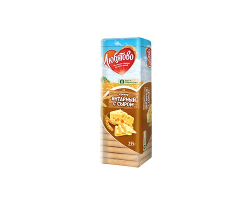 Крекер Любятово Янтарный с сыром 235 г - (133529К)