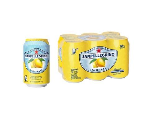 Напиток Sanpellegrino газированный сокосодержащий лимон 0.33 л 6 штук в упаковке - (571899К)