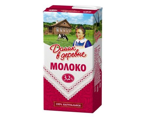 Молоко Домик в деревне ультрапастеризованное 3.2% 500 г - (431435К)