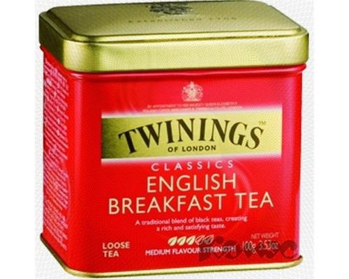 Чай Twinings English Breakfast Tea черный 100 г - (172707К)