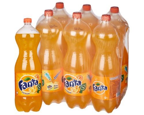 Напиток Fanta апельсин газированный 2 л 6 штук в упаковке - (615811К)