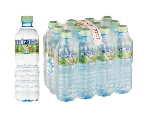 Вода минеральная Сенежская негазированная 0.5 л 12 штук в упаковке - (456932К)