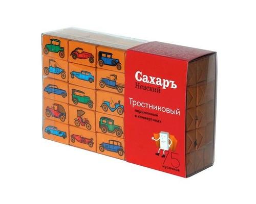 Сахар порционный кусковой тростниковый Сахаръ Невский 420 г - (607878К)