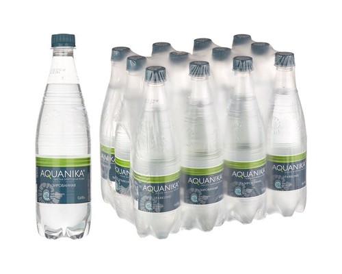 Вода минеральная Акваника премиум газированная 0.618 л 12 штук в упаковке - (493884К)