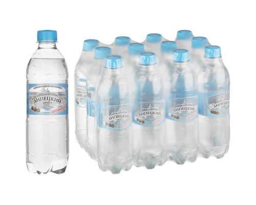 Вода питьевая Липецкий бювет негазированная 0.5 л 12 штук в упаковке - (493882К)