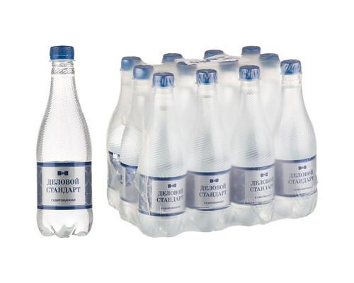 Вода питьевая Деловой стандарт газированная 0.5 л 12 штук в упаковке - (501781К)