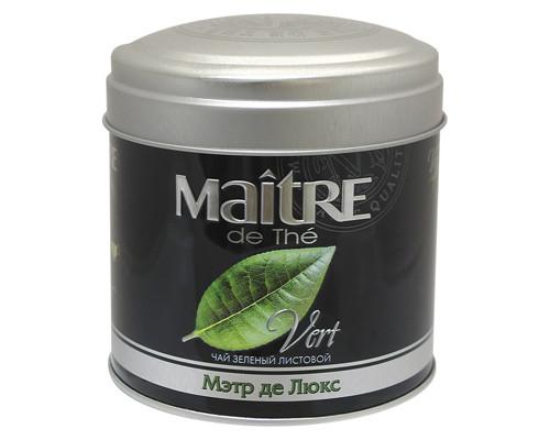 Чай Maitre Де Люкс зеленый 65 г - (271757К)