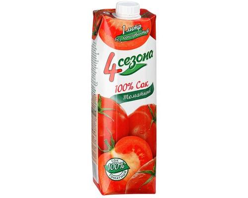 Сок 4 Сезона томат с мякотью 1 л - (499655К)