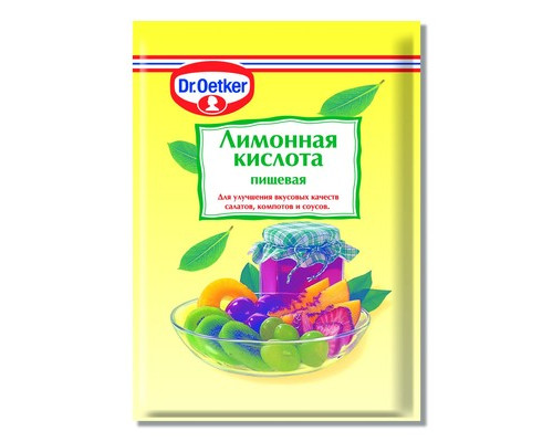 Кислота лимонная Dr.Oetker 50 г - (451009К)