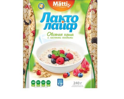 Каша Лактолайф овсяная с лесными ягодами 6 штук по 40 г - (421015К)