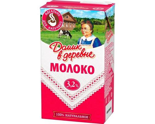 Молоко Домик в деревне для капучино ультрапастеризованное 3.2% 950 г - (486623К)