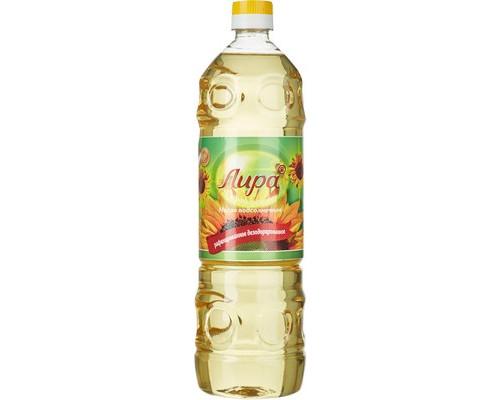 Масло Лира подсолнечное рафинированное дезодорированное 1 л - (677388К)