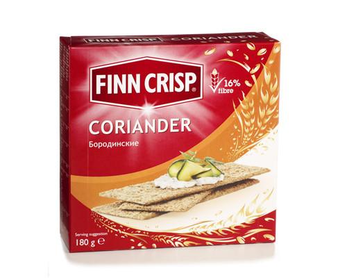 Сухарики Finn Crisp Coriander бородинские с кориандром 180 г - (251464К)