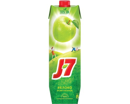 Сок J7 зеленое яблоко 0.97 л - (104506К)