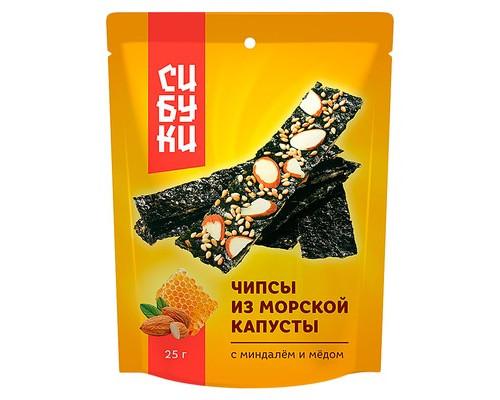 Чипсы из морской капусты Сибуки с миндалем и медом 25 г - (640503К)
