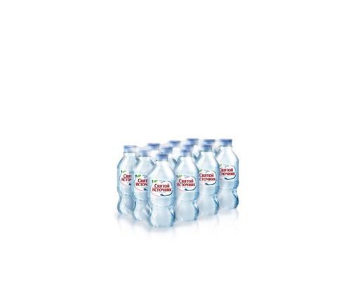Вода питьевая Святой Источник негазированная 0.33 л 12 штук в упаковке - (73494К)