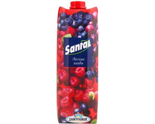 Напиток сокосодержащий Santal лесные ягоды 1 л - (499650К)