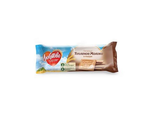 Печенье сахарное Любятово топленое молоко в глазури 175 г - (348327К)