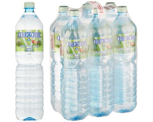 Вода минеральная Сенежская негазированная 1.5 л 6 штук в упаковке - (493902К)