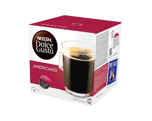 Капсулы для кофемашин Dolce Gusto Americano 16 штук в упаковке - (446052К)