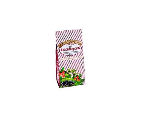 Чай Краснодарский черный с шиповником, мелиссой, мятой и черной смородиной 100 г - (636026К)